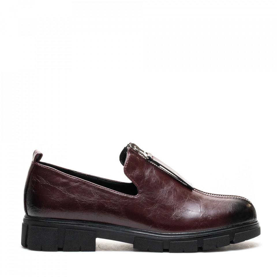 Pantofi Cod: W77-57D WINE (F02)