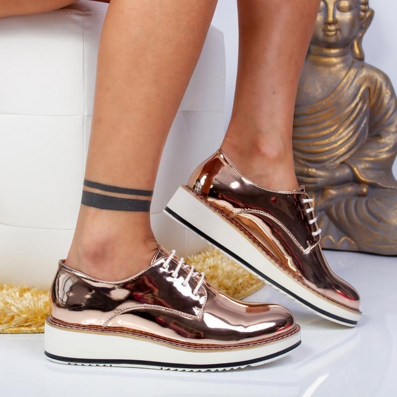"""Pantofi """"MireaFashion"""" Cod: 7A130 CHAMPAGNE (R-6)"""