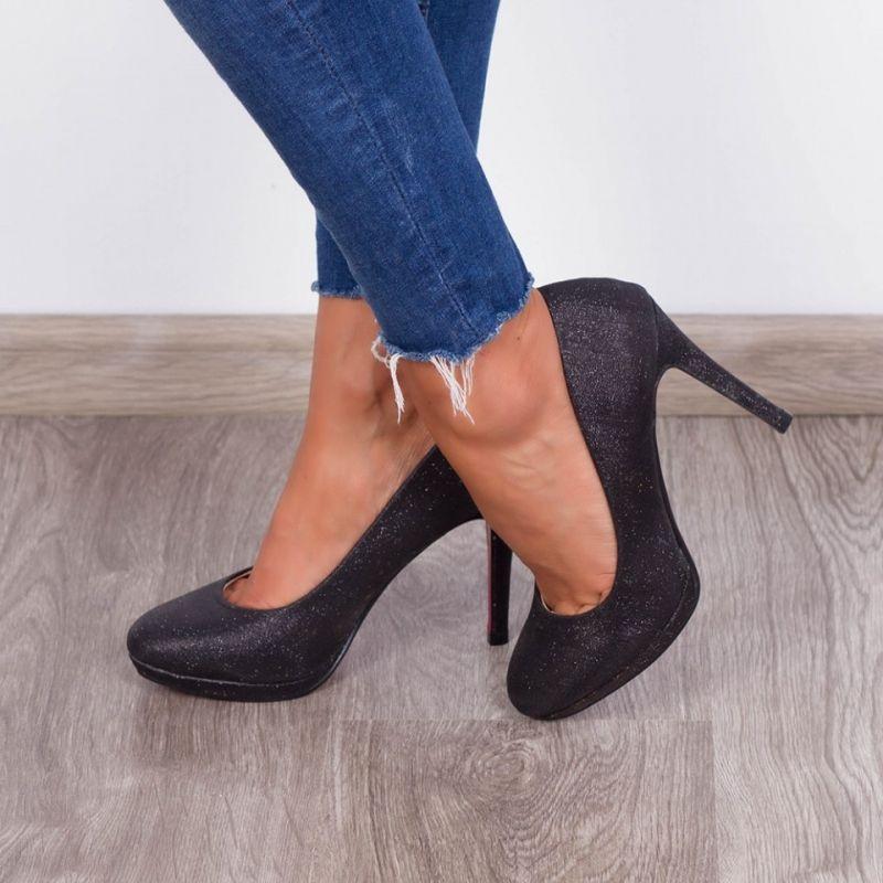 "Pantofi ""MireaFashion"" Cod: 9300-1C Black (O05)"