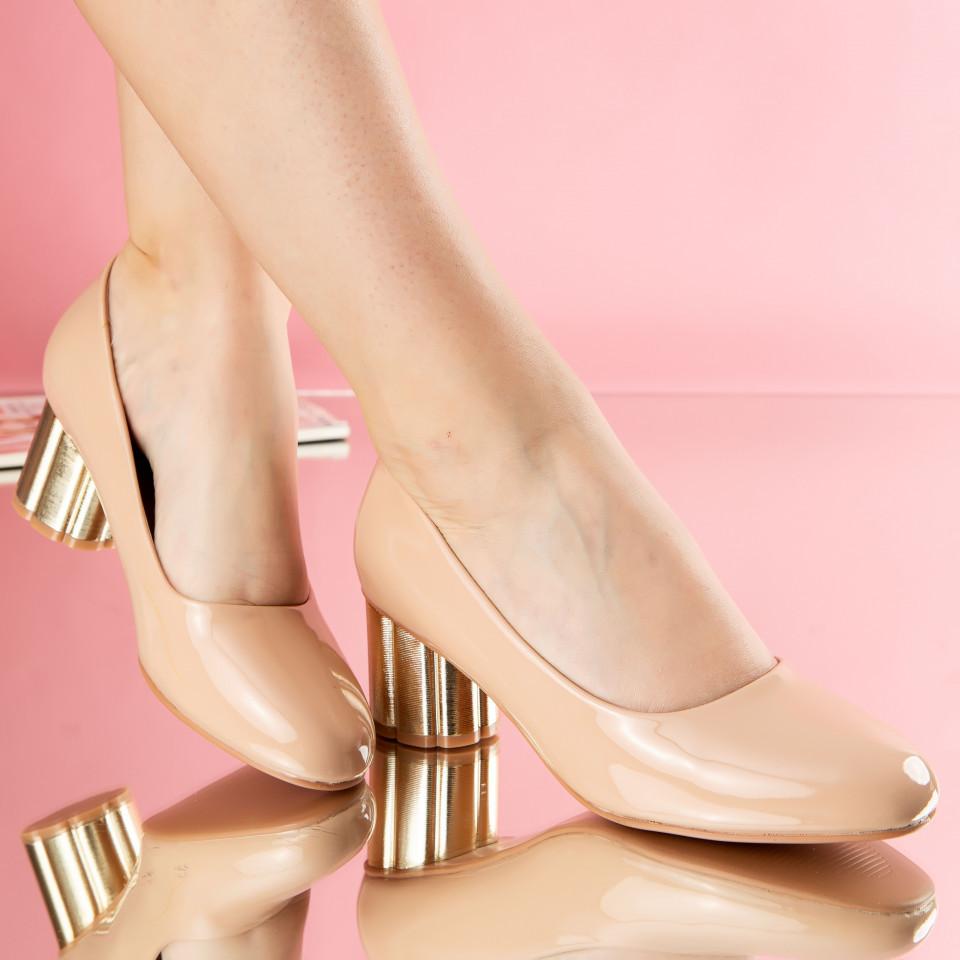 """Pantofi """"MireaFashion"""" Cod: W750-5 BEIGE (A01)"""