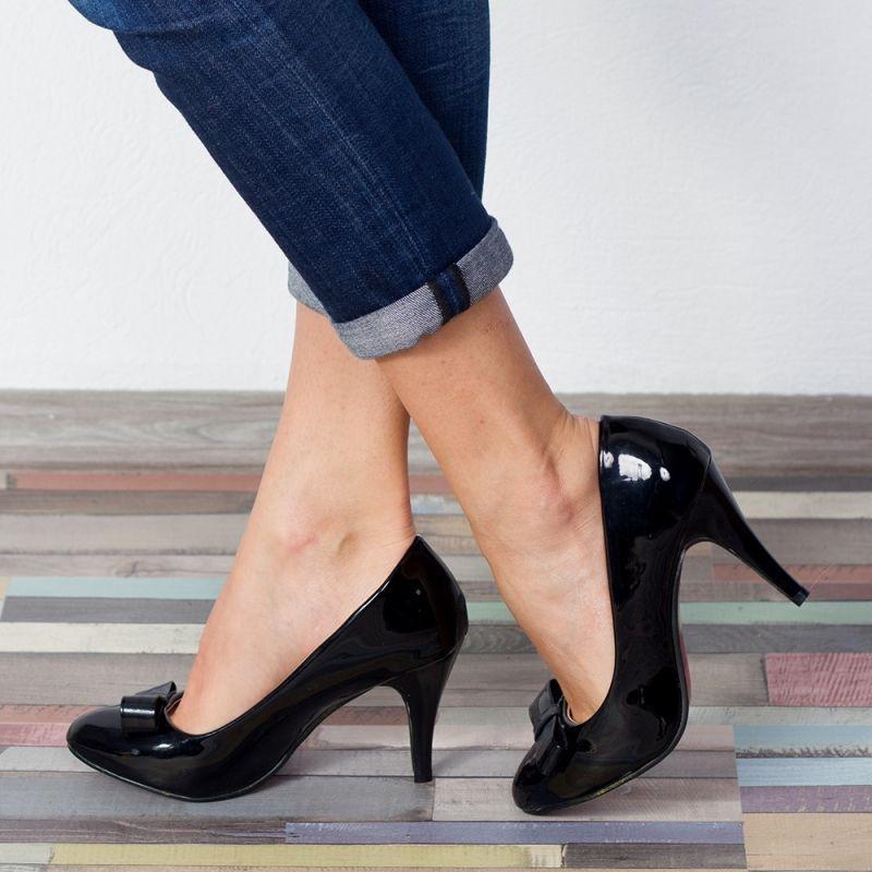 "Pantofi ""MireaFashion"" Cod: WT-67 Black (B010)"