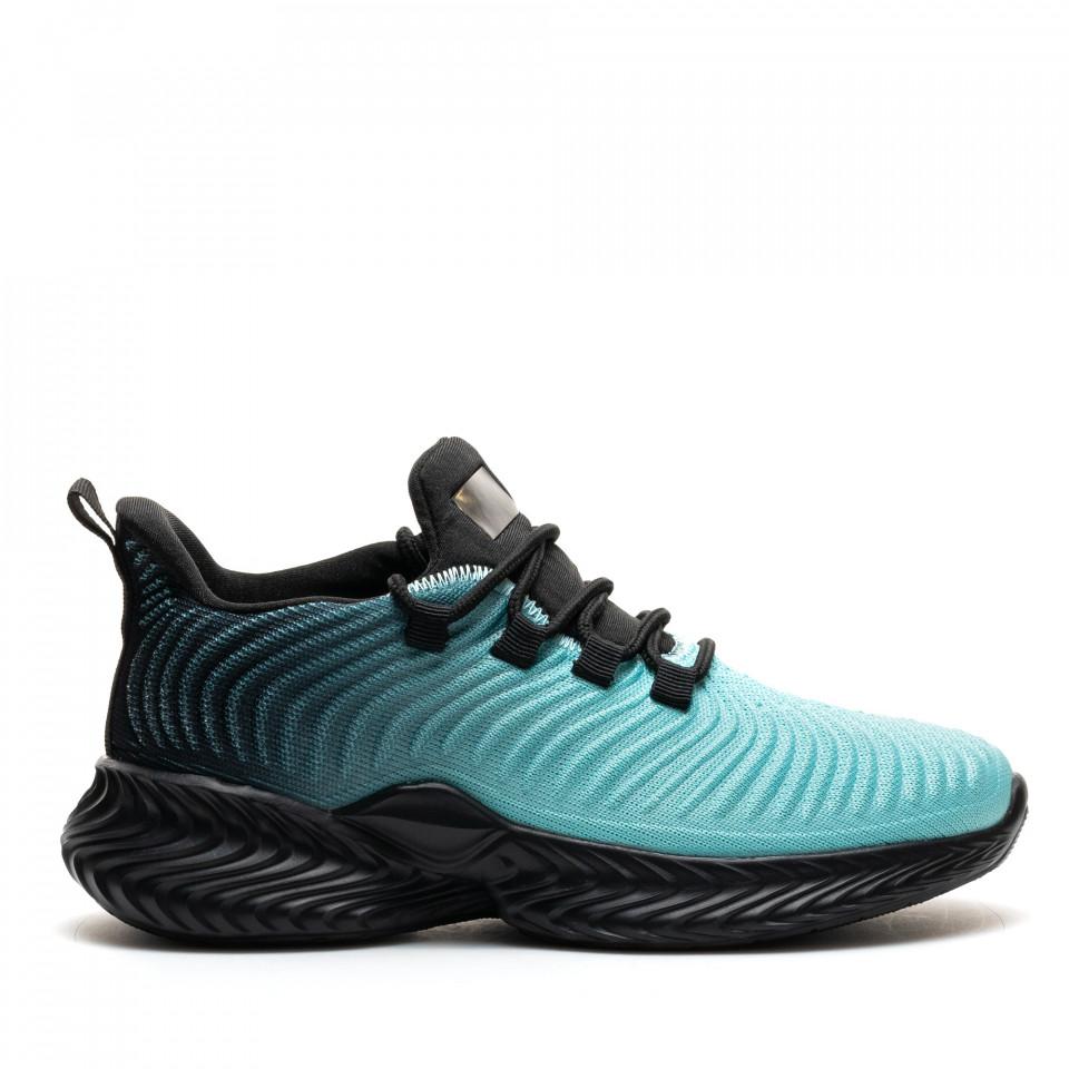 Pantofi Sport Cod: D8305-8 BLACK/CYAN (D02)