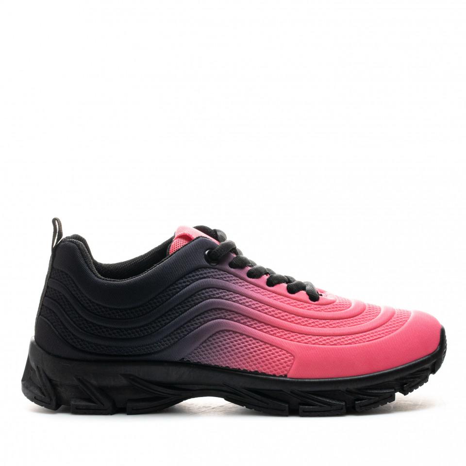 Pantofi Sport Cod: J1836 ROSE/BLACK (D02)