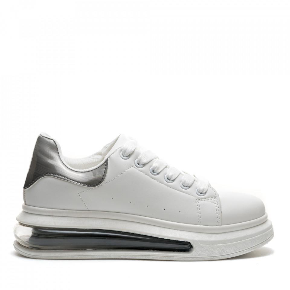 Pantofi Sport Cod: JG25 WHITE/BLACK (F04)