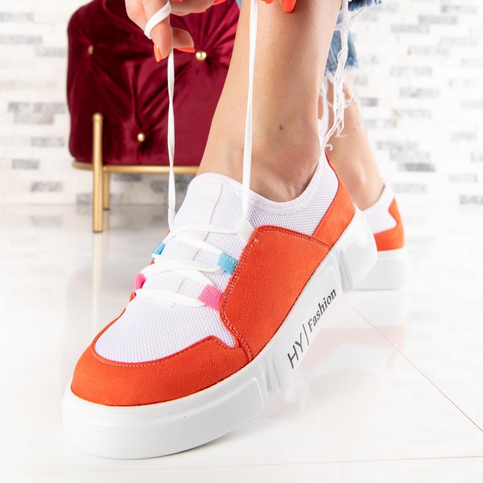 "Pantofi Sport ""MireaFashion"" Cod: 634 WHITE (S01)"