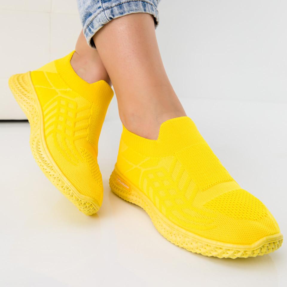 "Pantofi sport ""MireaFashion"" Cod: Z-99 YELLOW (I 07)"