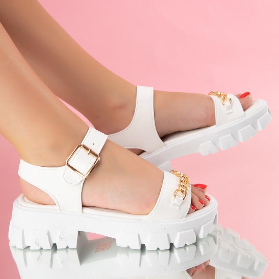 "Sandale ""MireaFashion"" Cod: 1130 WHITE (E06)"