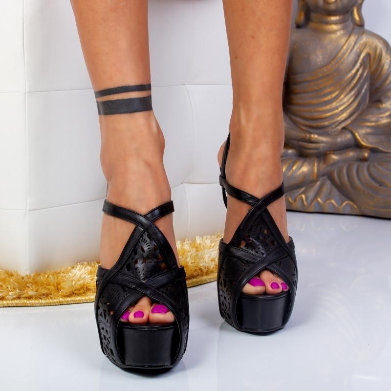 "Sandale ""MireaFashion"" Cod: LBS2181 BLACK (K02)"