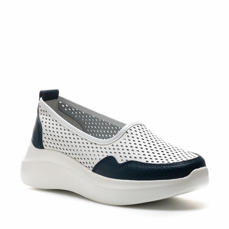 Pantofi dama Cod: XH-2045 WHITE/NAVY (G04)