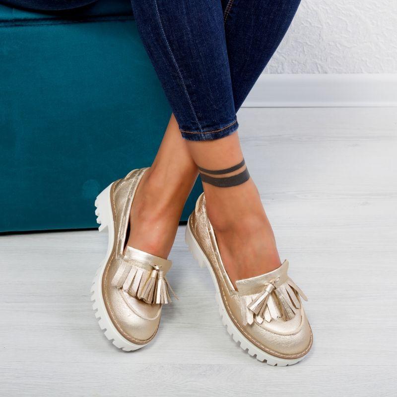 """Pantofi """"MireaFashion"""" Cod: 1AX-17266 GOLD (S5)"""
