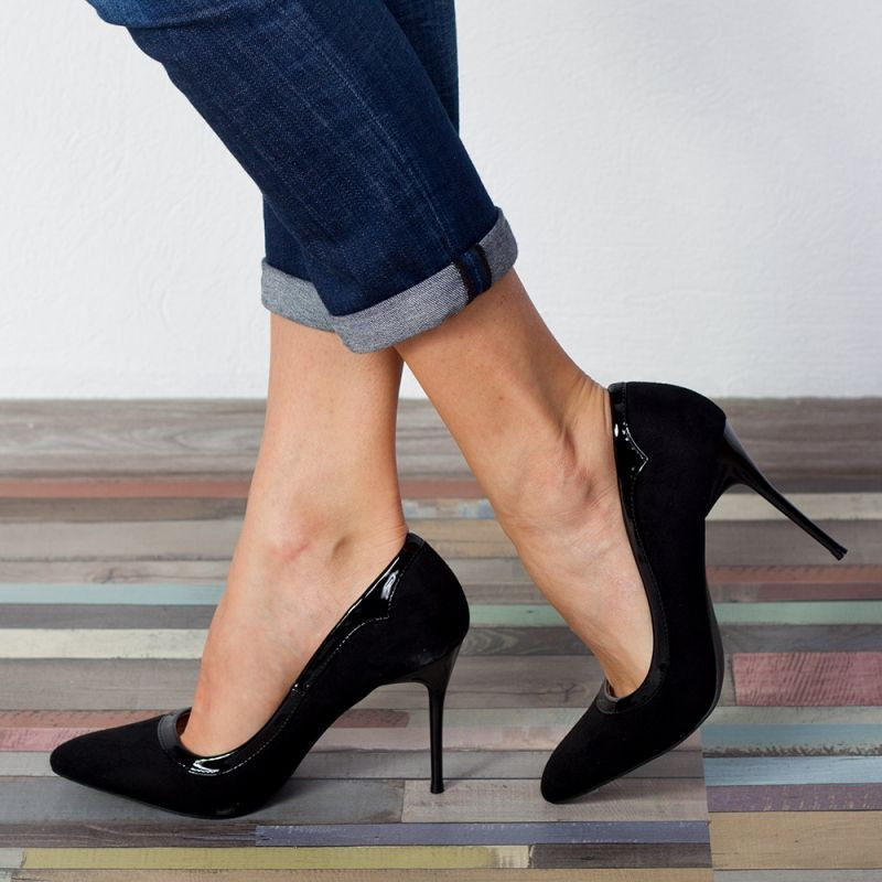 "Pantofi ""MireaFashion"" Cod: 6700-6 BLACK (K01 - M01)"