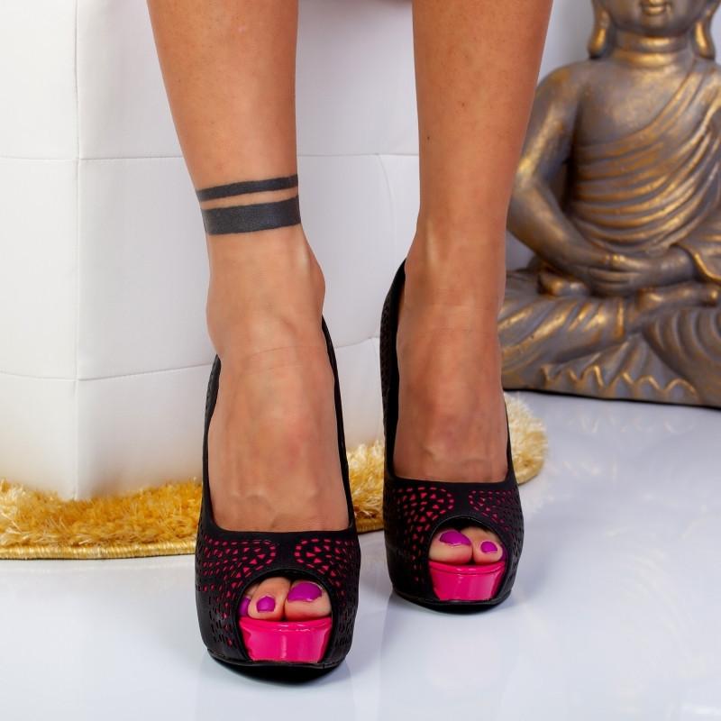 "Pantofi ""MireaFashion"" Cod: FG12-8 BLACK (C 03)"