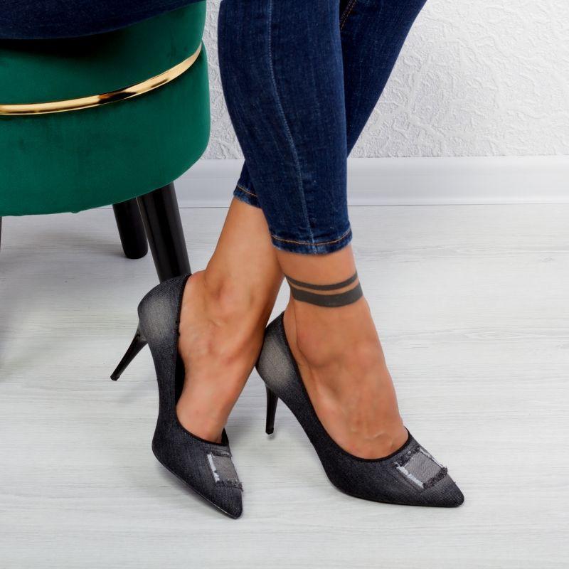 "Pantofi ""MireaFashion"" Cod: G7650-1 Black (D06)"