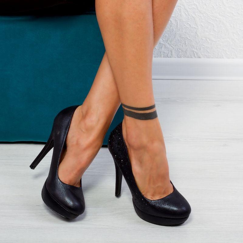 "Pantofi ""MireaFashion"" Cod: K858-1 BLACK (D06)"
