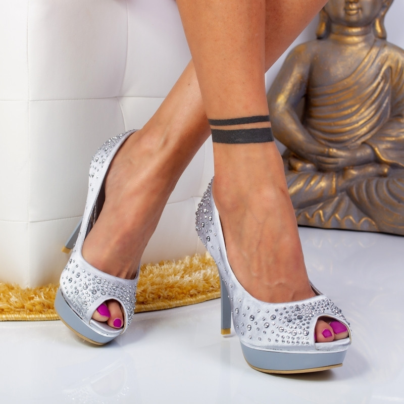 "Pantofi ""MireaFashion"" Cod: KF-7 Silver (J06)"