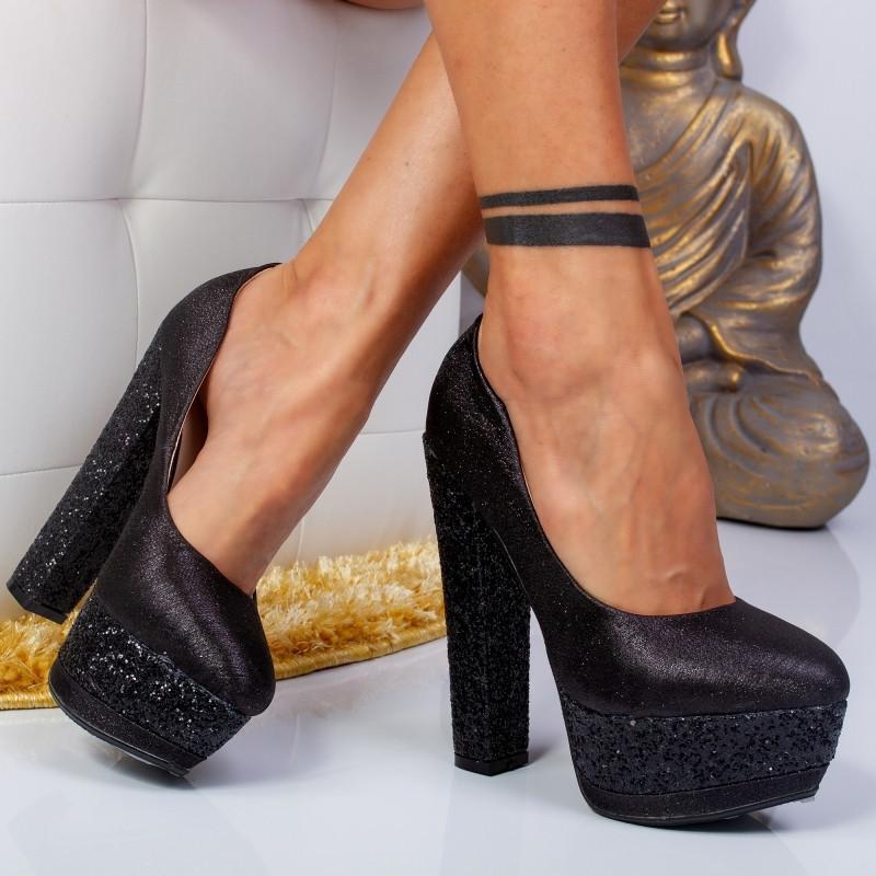 "Pantofi ""MireaFashion"" Cod: XKK6501 BLACK (A 06)"