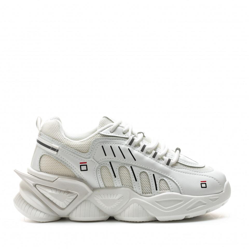 Pantofi Sport Cod: 8801-3 WHITE (i 04)