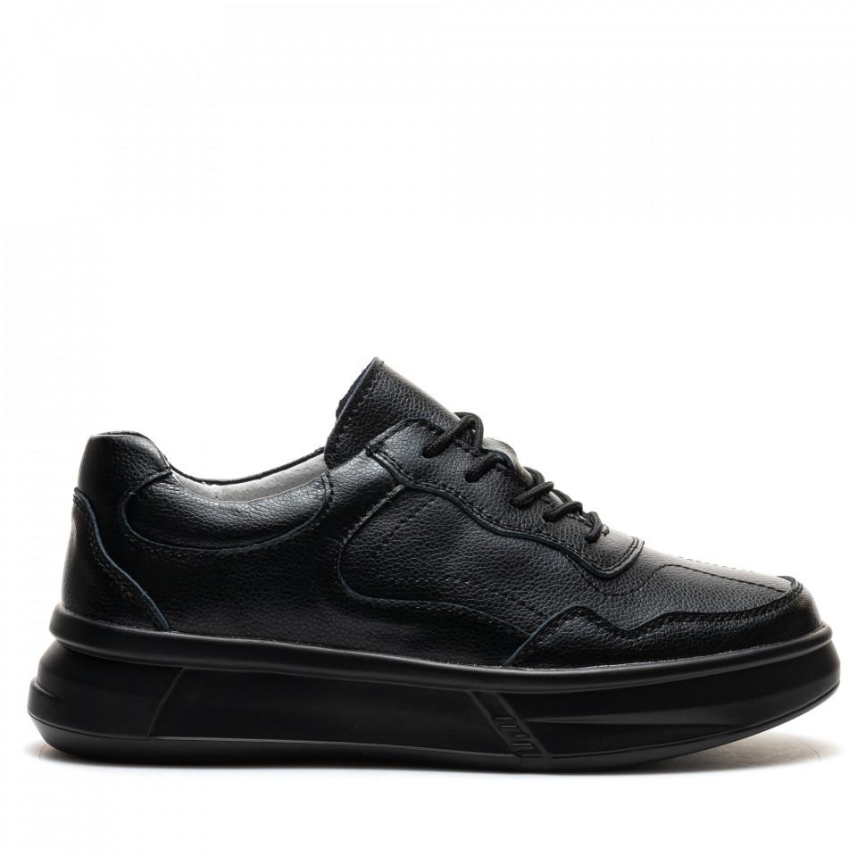 Pantofi Sport Cod: AW89 BLACK LEATHER (I01)