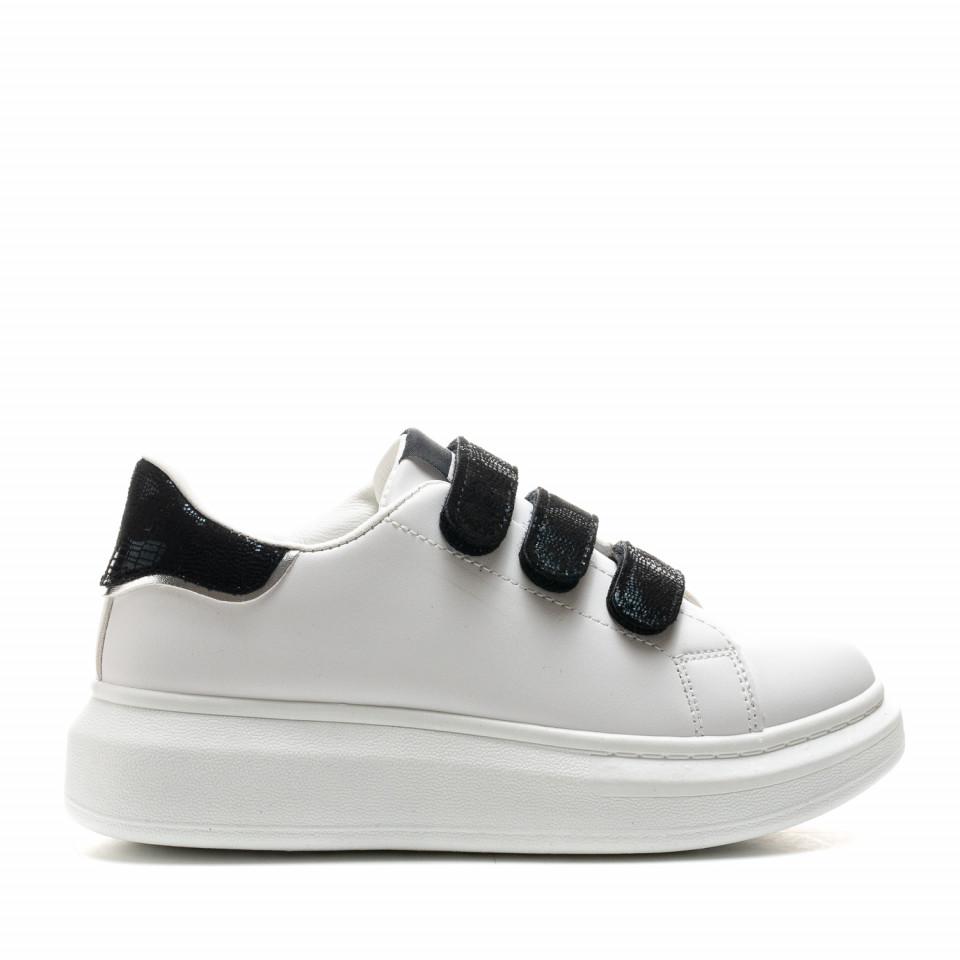 Pantofi Sport Cod: B-21 WHITE/BLACK (E01)