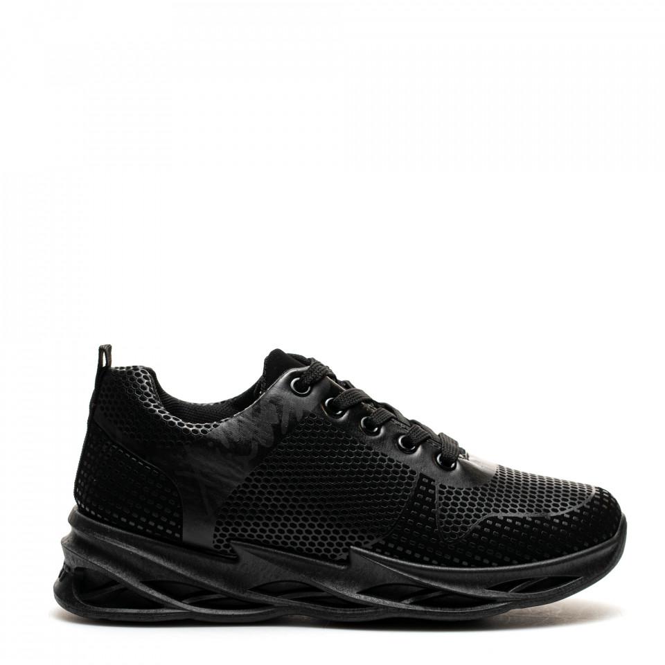 Pantofi Sport Cod: HQ-095-026 ALL BLACK (H01)
