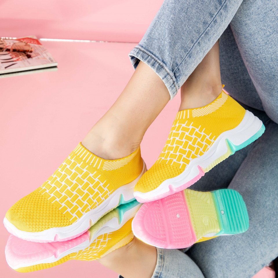 "Pantofi sport ""MireaFashion"" Cod: 0114-4 YELLOW (R 02)"