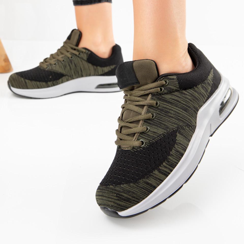 "Pantofi sport ""MireaFashion"" Cod: 908H BLACK/GREEN (D05)"