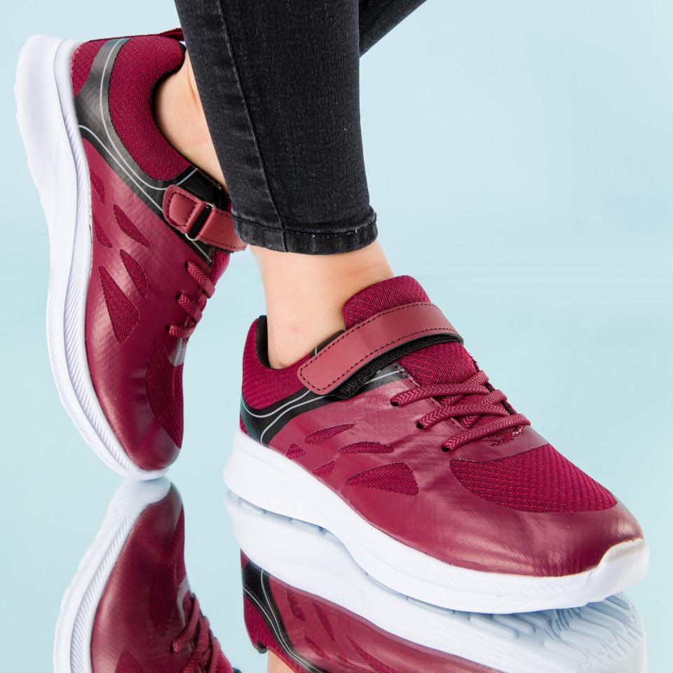 "Pantofi sport ""MireaFashion"" Cod: B072 WINE (I06)"