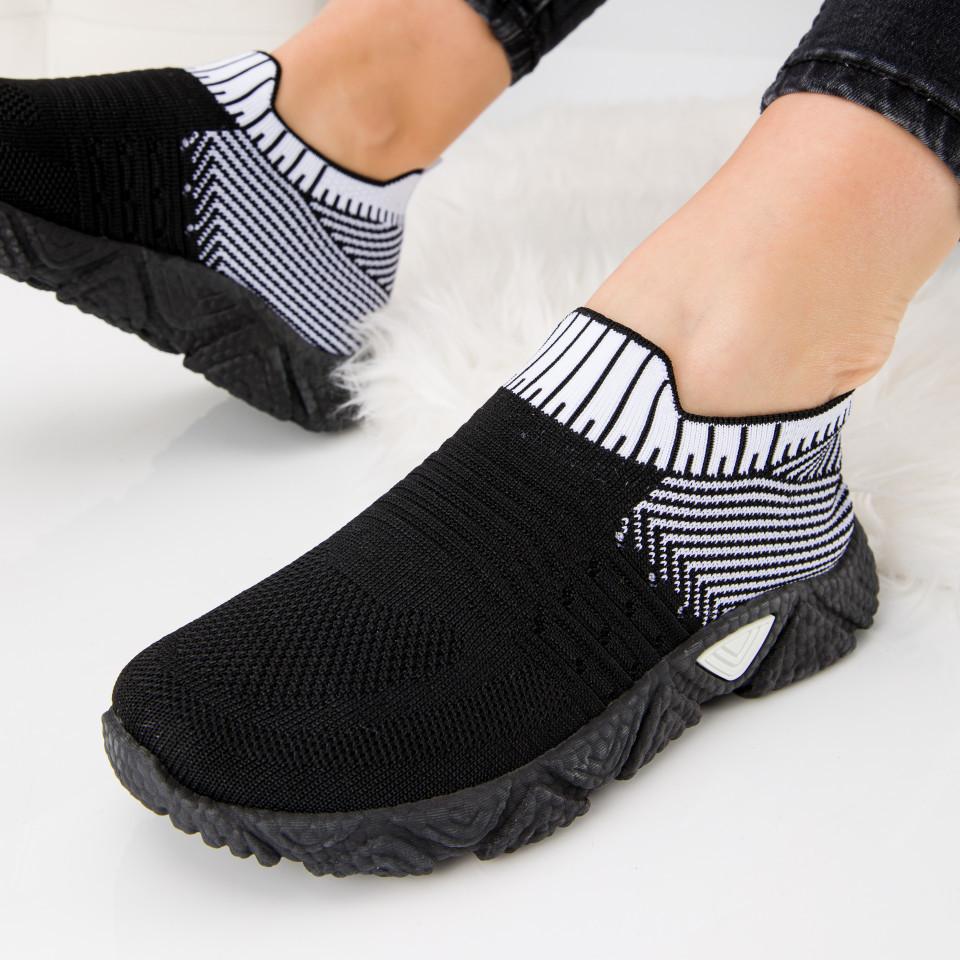"""Pantofi sport """"MireaFashion"""" Cod: HQ-209-271 BLACK/WHITE (K06)"""