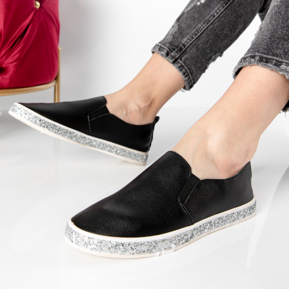 "Pantofi sport""MireaFashion"" Cod: V40 BLACK (C013)"