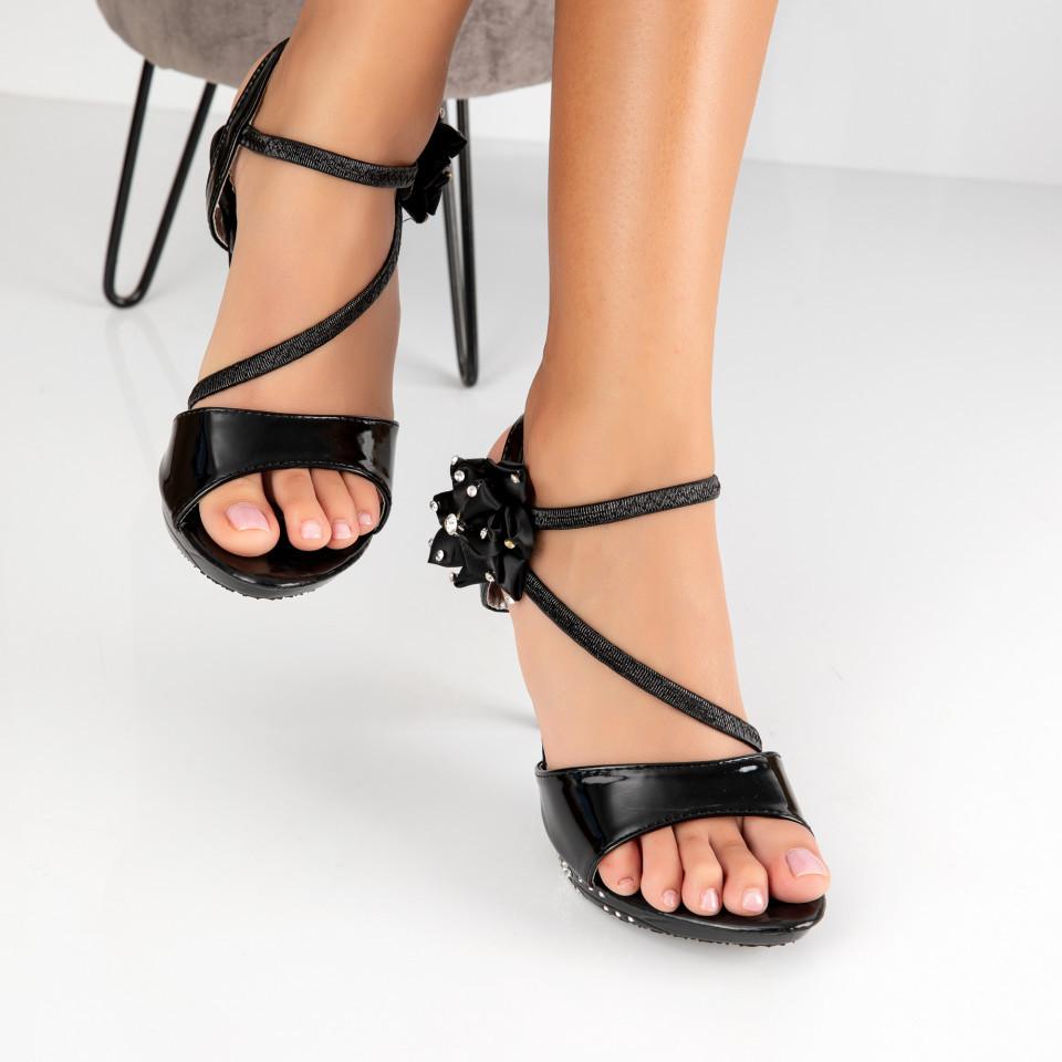 "Sandale ""MireaFashion"" Cod: 2011-6 BLACK (B011)"