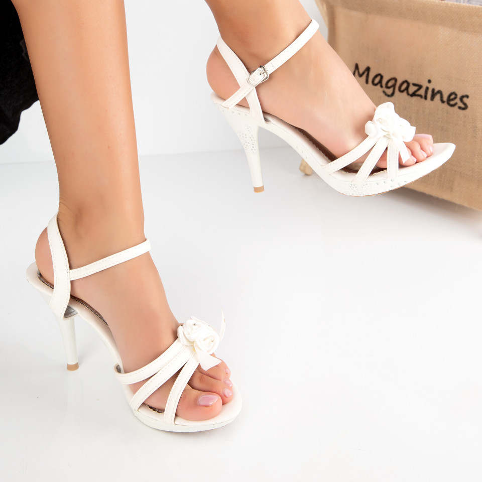 "Sandale ""MireaFashion"" Cod: 2013-2 WHITE (C 02- O01)"