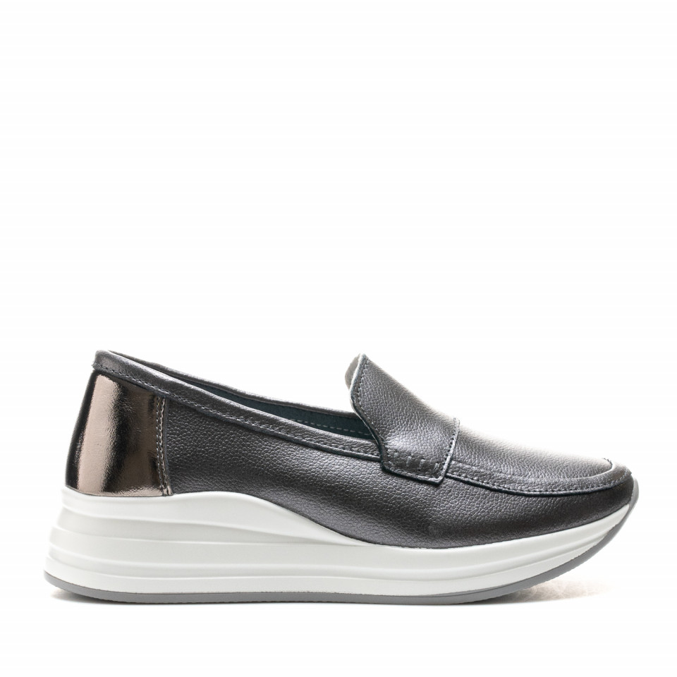 Pantofi Cod: AW155 PEWTER LEATHER (C 010)
