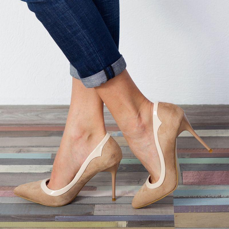 """Pantofi """"MireaFashion"""" Cod: 6700-6 APRICOT (C013)"""