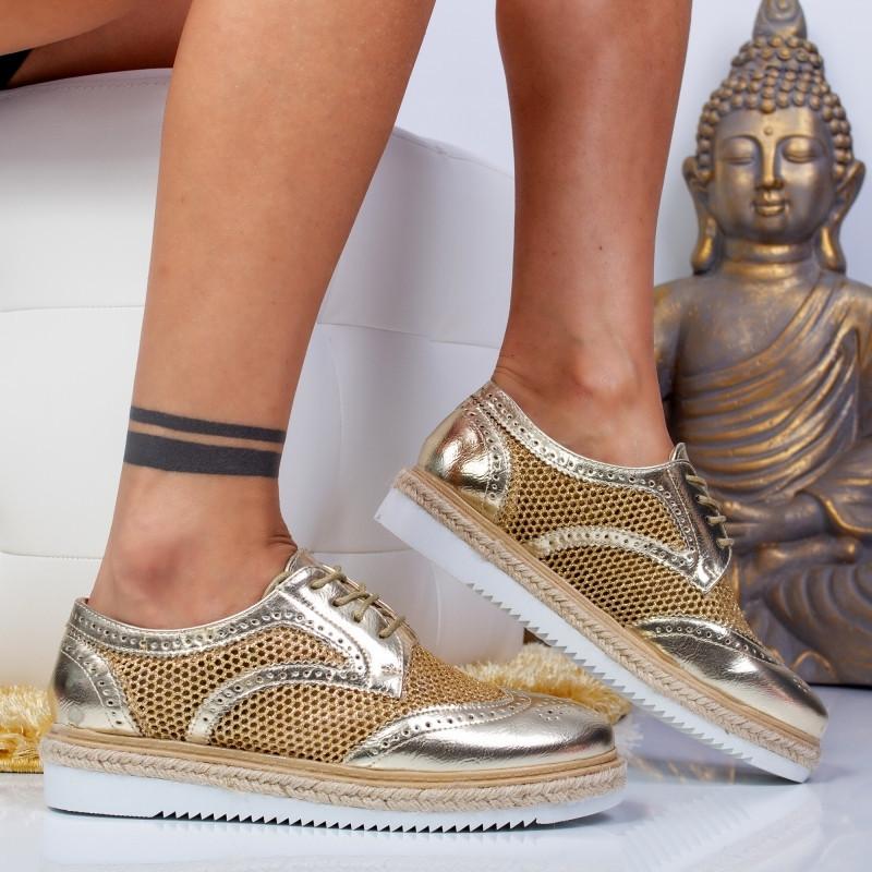 """Pantofi """"MireaFashion"""" Cod: 7-889 GOLD ( J3)"""