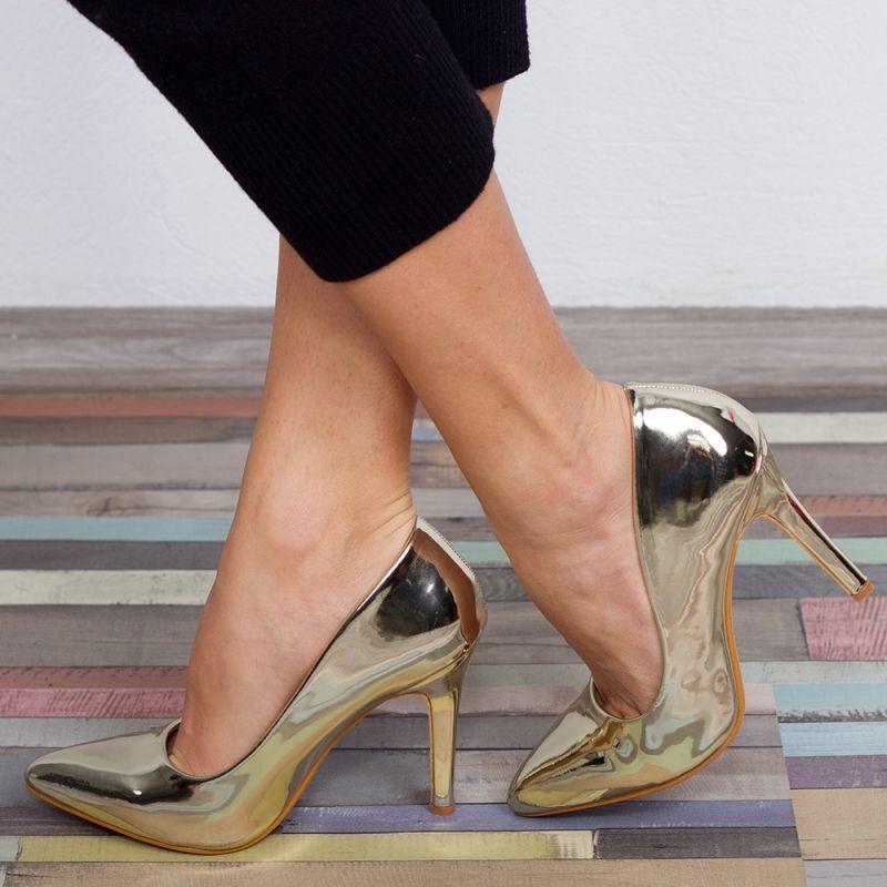 "Pantofi ""MireaFashion"" Cod: 962-5 GOLD (N04)"