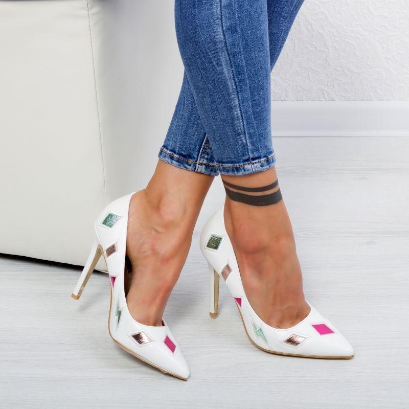 """Pantofi """"MireaFashion"""" Cod: WT18303 WHITE (O 02)"""