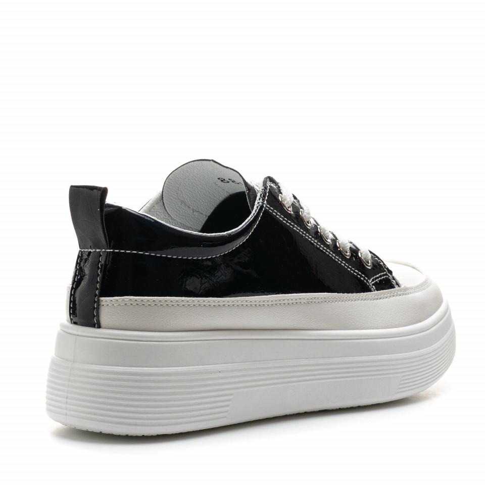 Pantofi Sport Cod: 8811 WHITE/BLACK (H02)