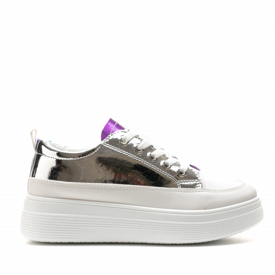 Pantofi Sport Cod: 8811 WHITE/COLOR (C 05)