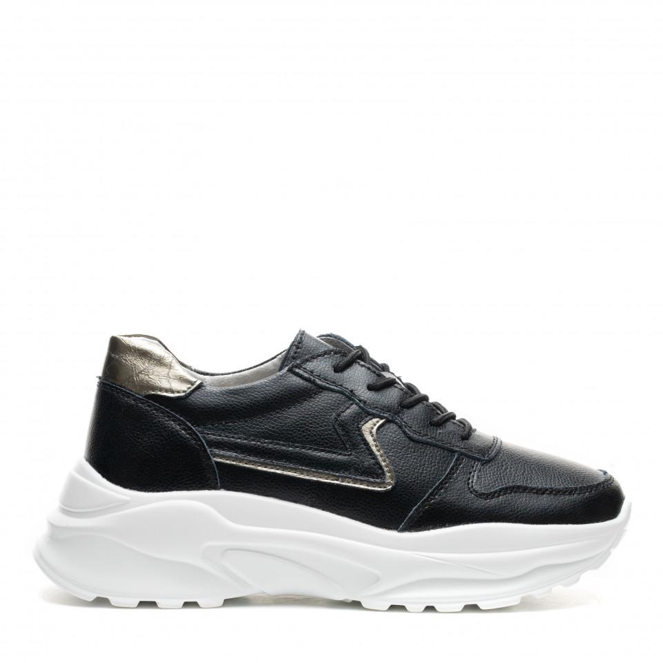 Pantofi Sport Cod: AW117 BLACK/LEATHER (E010)