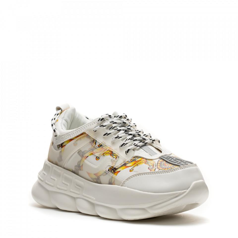 Pantofi Sport Cod: H3-1 WHITE (F02)