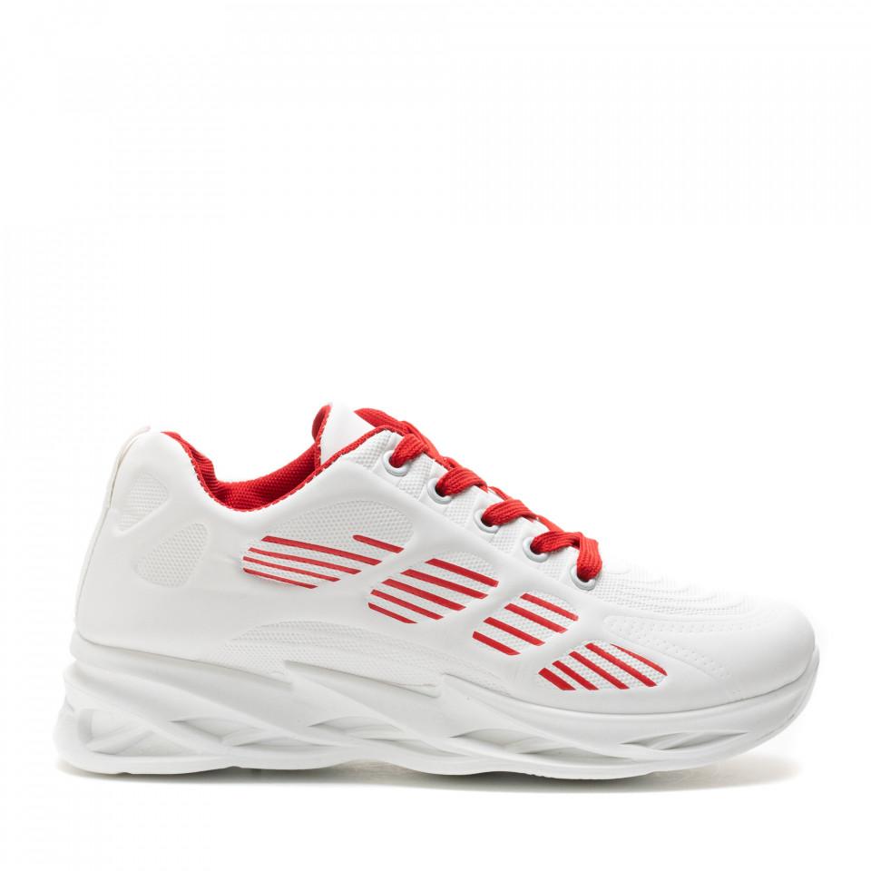 Pantofi Sport Cod: HQ-092-017 WHITE/RED (H04)