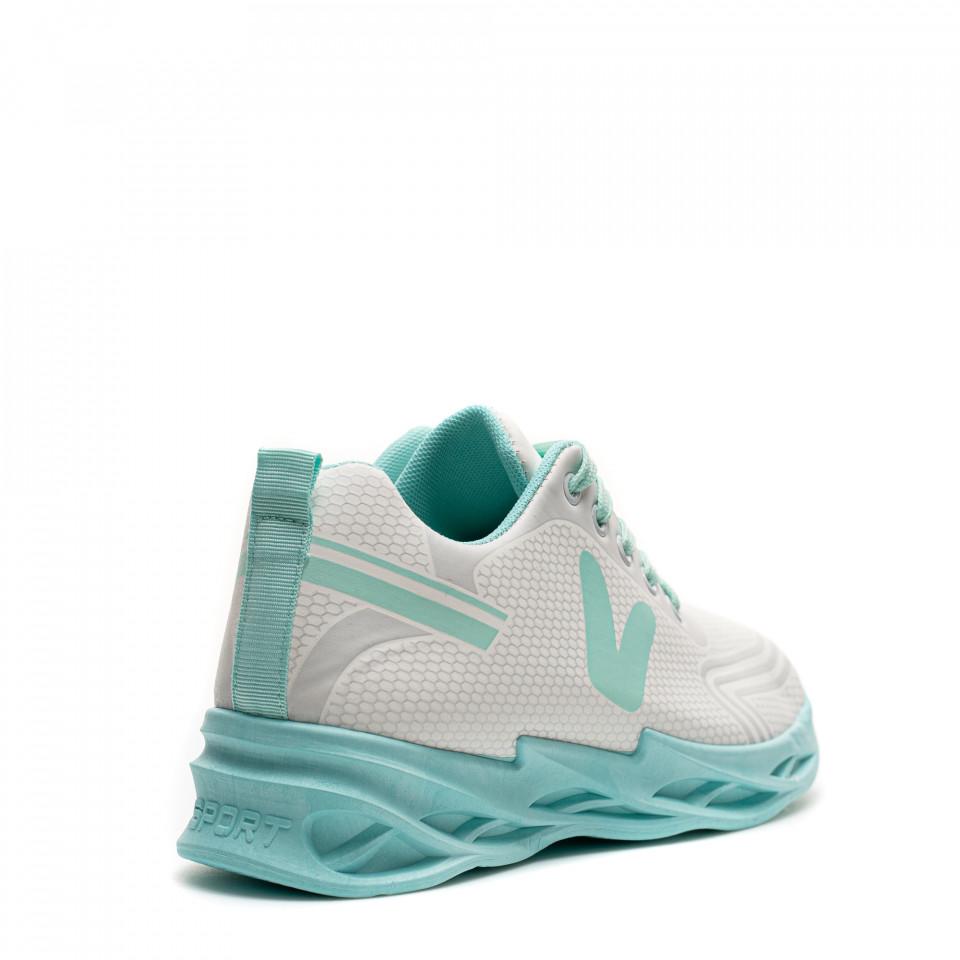 Pantofi Sport Cod: HQ-096-038 WHITE/GREEN (J03)