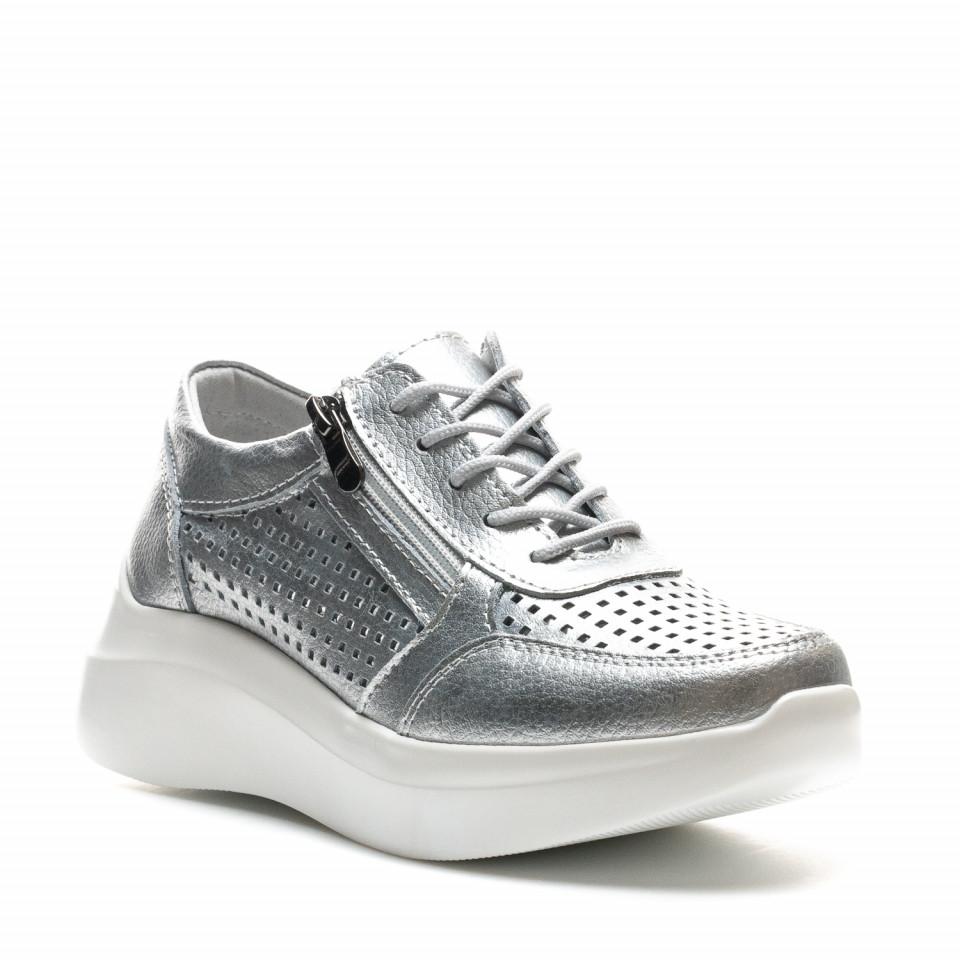 Pantofi Sport Cod: XH-2018 SILVER (C 07)