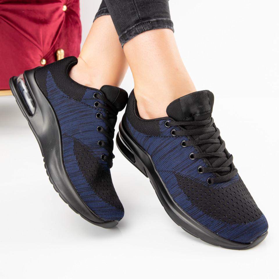 "Pantofi sport ""MireaFashion"" Cod: 908D BLACK/NAVY (C 01)"