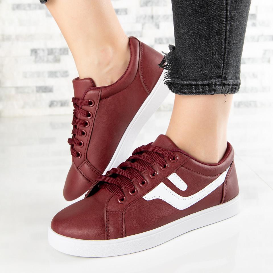 "Pantofi Sport ""MireaFashion"" Cod: A1810-4 WINE RED (I 05)(J05)(J04)"
