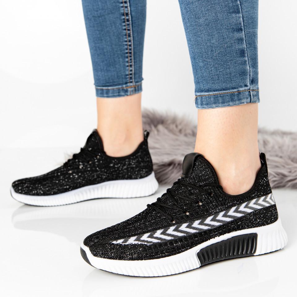 "Pantofi sport ""MireaFashion"" Cod: LT950 BLACK (B010) (C011)"