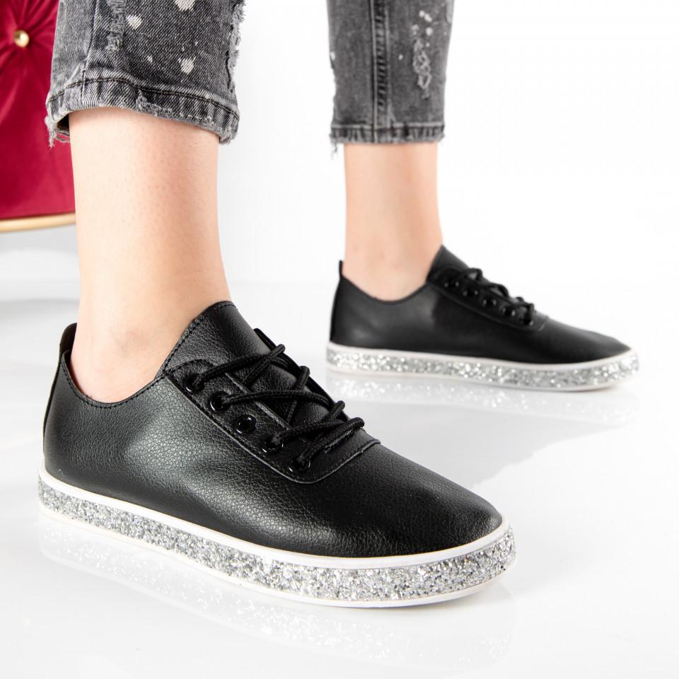 """Pantofi sport""""MireaFashion"""" Cod: V30 BLACK (B011)"""