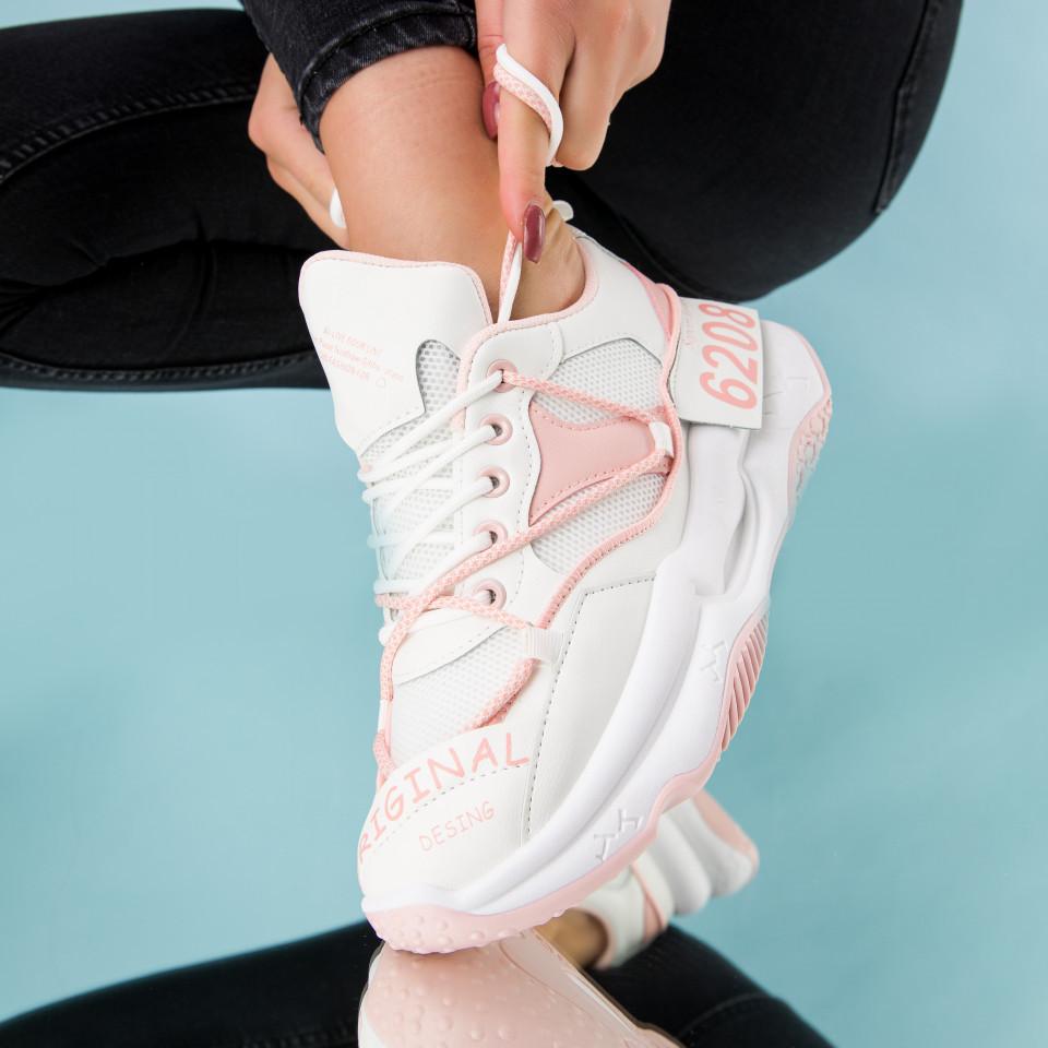 """Pantofi sport """"MireaFashion"""" Cod: W6607 WHITE/PINK (R03)"""