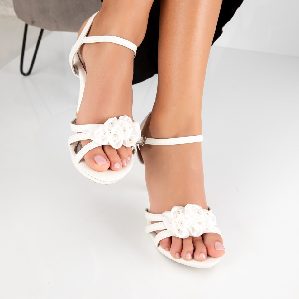 "Sandale ""MireaFashion"" Cod: 2011-3 WHITE (C 01- M03)"