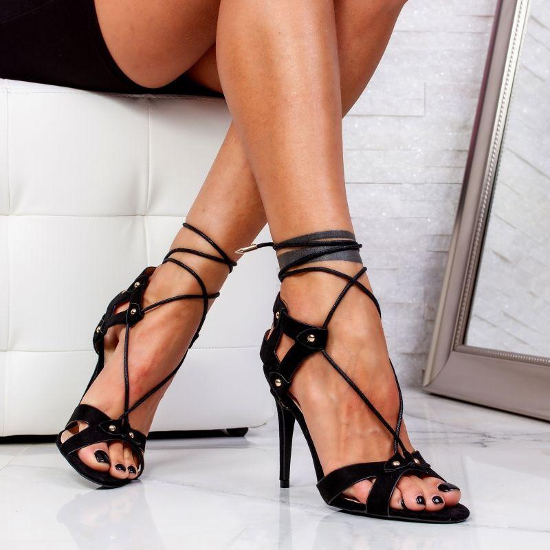 """Sandale """"MireaFashion"""" Cod: 8267 BLACK (D05)"""